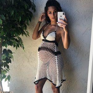 Nikita Naomi handmade crochet cover-up dress S/M